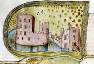 Ruïne van Teylingen anno 1596