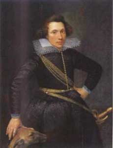 Portret van Johan van Duvenvoorde anno 1608