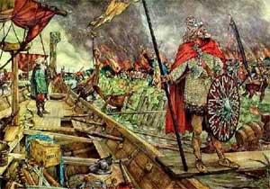 Vinkingen plunderen Dorestad.