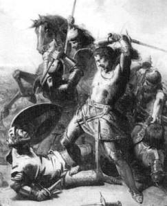 Graaf Willem IV sneuvelt tijdens de slag bij Warns in 1345